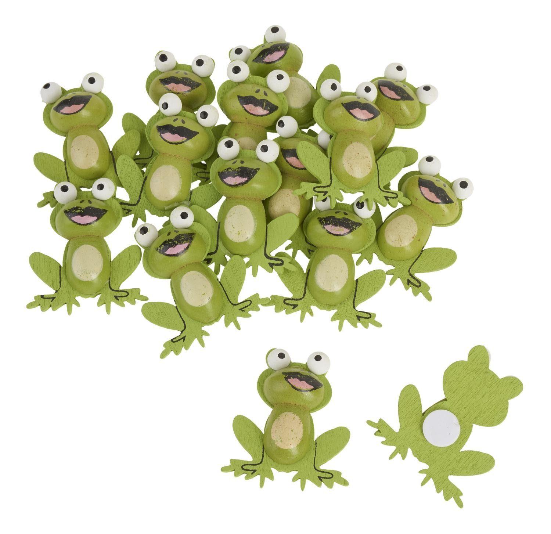 """VBS Holz-Streuteile """"Froggy"""" 15 Stück mit Klebepunkt"""