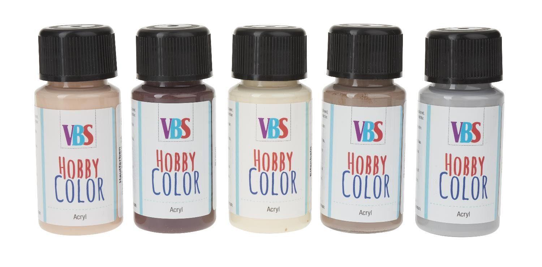 "VBS Acrylfarben-Set ""Hobby Color Harmonie"" 5er-Set"