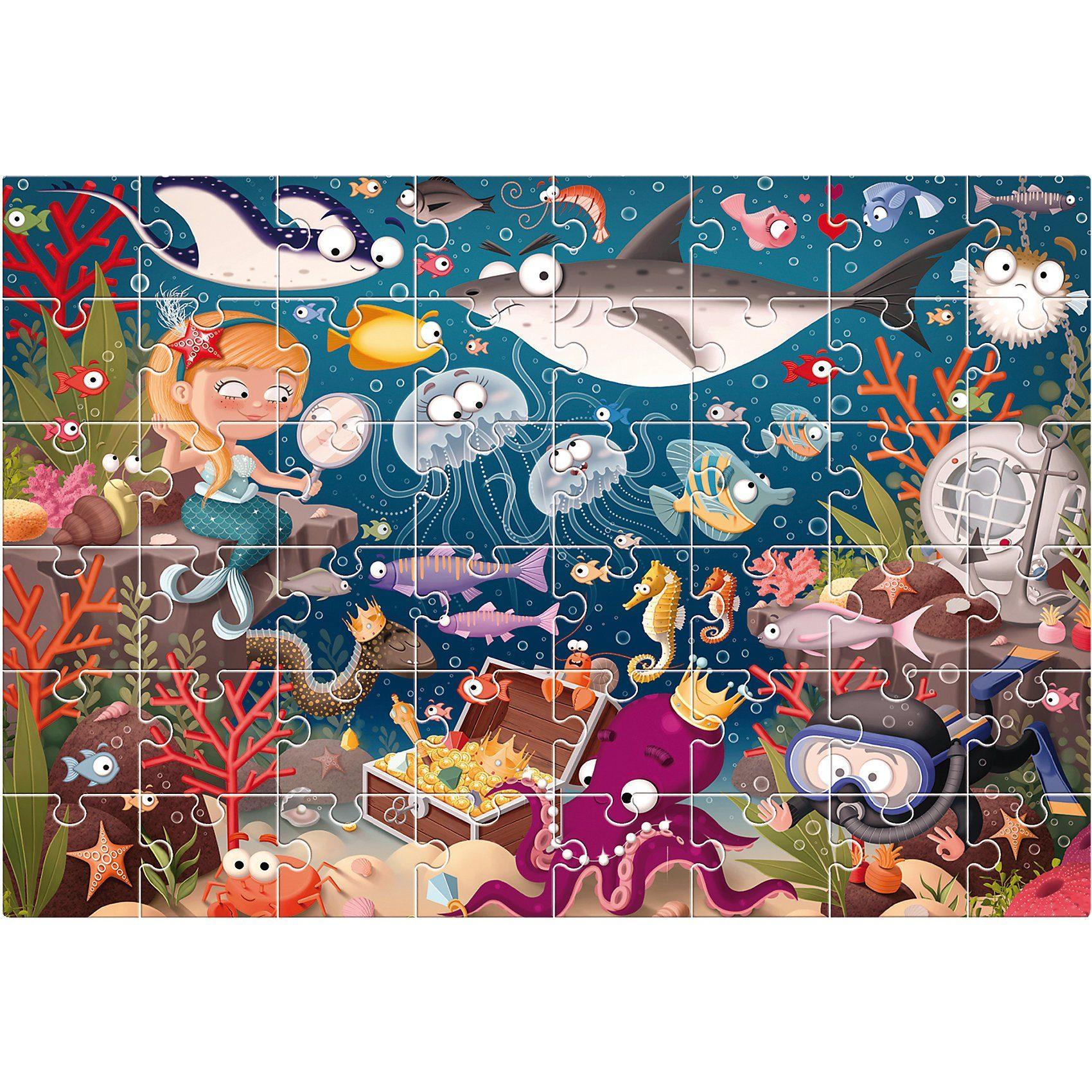 Lisciani Großes Bodenpuzzle - Unterwasserwelt - 48 Teile
