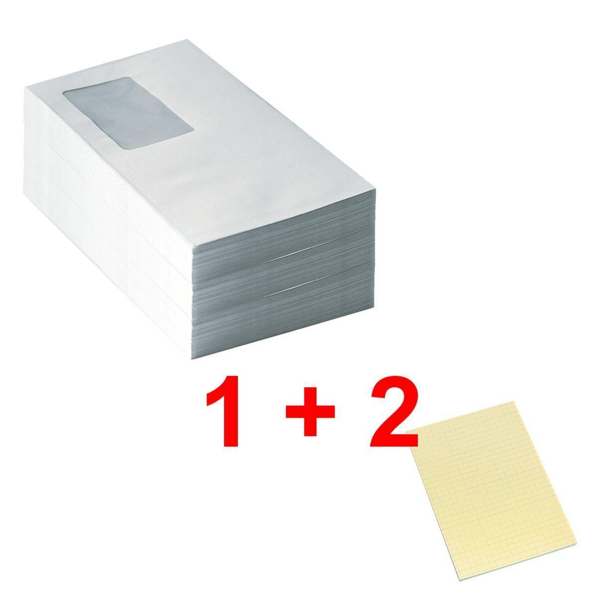 Briefumschläge DL mit Fenster und Haftklebung inkl. 2x H... 1 Set