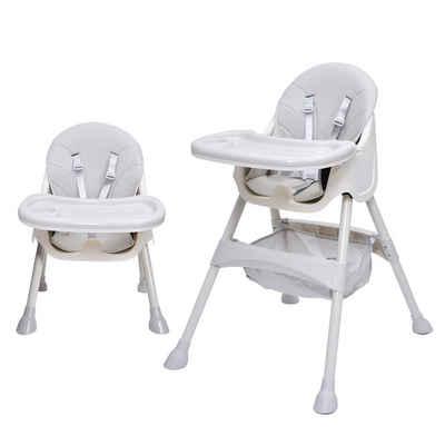 Sross Hochstuhl »Der Babyhochstuhl ist für Kinder von 6 Monaten bis 3 Jahren geeignet 91cm hoch«, 5-Punkt-Sicherheitsgurt, PP-Teller für Doppelschicht Schale, Anti-Rutsch-pp-Fusspad, 3 Einetellmodi, mitwachsend und höhenverstellbar