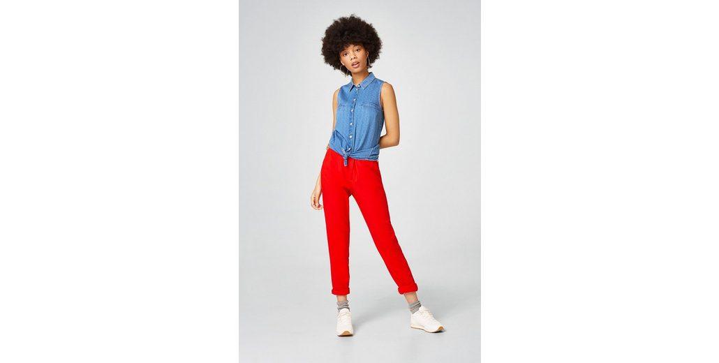 Angebote Günstigen Preis EDC BY ESPRIT Jeans-Bluse mit feinen Webtupfen  Online-Verkauf Billig Verkauf 2018 Niedriger Preis Größte Lieferant Für Verkauf DE6JpExET