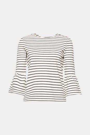 EDC BY ESPRIT Streifen-Shirt aus dichtem Jersey