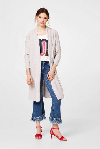 EDC BY ESPRIT Long-Cardigan aus Feinstrick