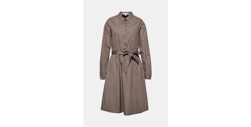 mit ESPRIT Baumwolle up Kleid Kleid Turn ESPRIT 100 mit 脛rmeln SRPIPdqC