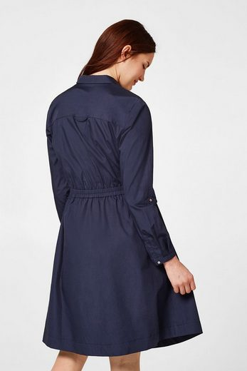 Wit Sleeves Turn-up Dress With 100% Cotton