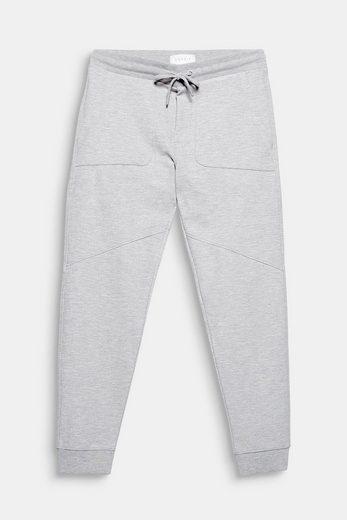 ESPRIT Melierte Sweat-Pants mit Saumbündchen