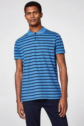 ESPRIT Piqué-Poloshirt mit knalligen Streifen