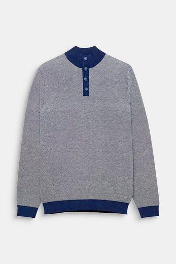 ESPRIT COLLECTION Jacquard-Sweater mit hohem Ripp-Kragen