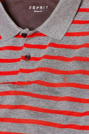 Esprit Pique Polo Shirt With Stripes Bright