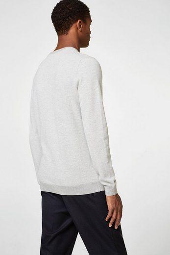 ESPRIT COLLECTION Jacquard-Pullover aus reiner Baumwolle