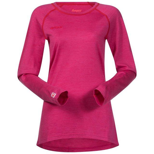 Damen Bergans Langarmshirt rosa | 07031581777688