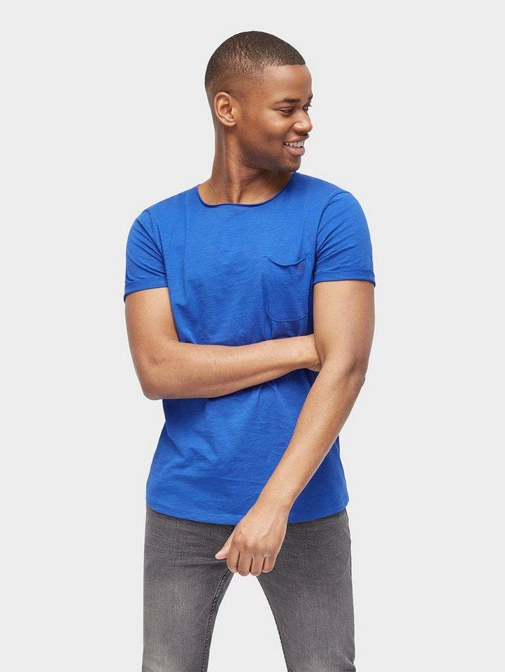 tom tailor denim t shirt basic t shirt mit brusttasche. Black Bedroom Furniture Sets. Home Design Ideas