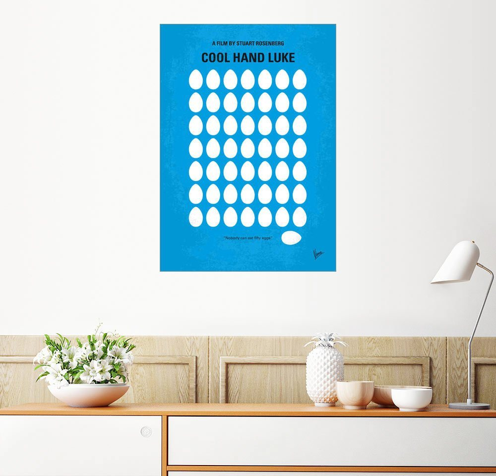 Posterlounge Wandbild - chungkong »No616 My Cool Hand Luke minimal movie poster« | Dekoration > Bilder und Rahmen > Poster | Holz | Posterlounge