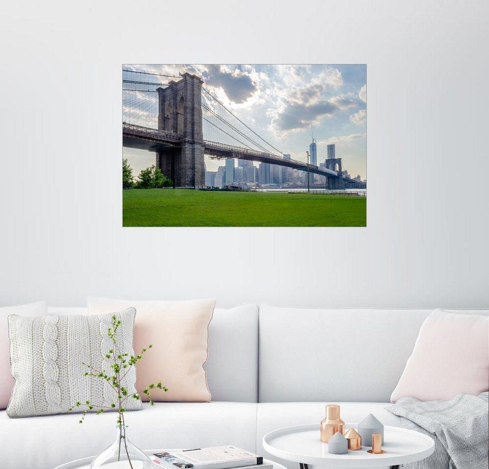 posterlounge wandbild brooklyn bridge new york otto. Black Bedroom Furniture Sets. Home Design Ideas