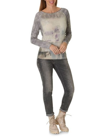 Betty Barclay Langarmshirt mit Allover Muster