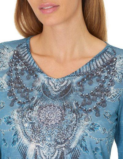 Betty Barclay Gemustertes Langarmshirt mit Frontprint
