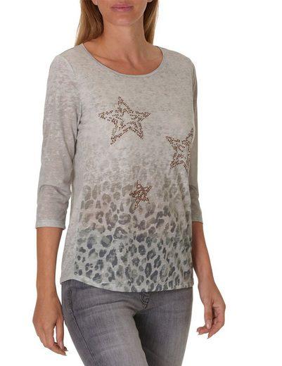 Betty Barclay Leo Print Shirt mit Sternen Applikation