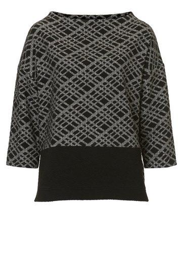 Betty Barclay Gemustertes Sweatshirt mit Stehkragen