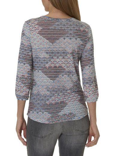 Betty Barclay Shirt mit Mustermix und Strasssteinen