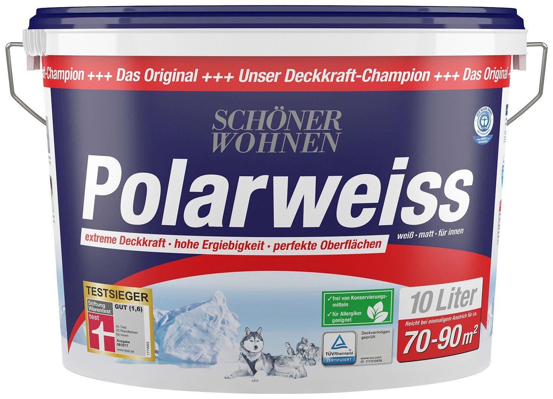 SCHÖNER WOHNEN FARBE Innenfarbe »Polarweiss«, 10 l