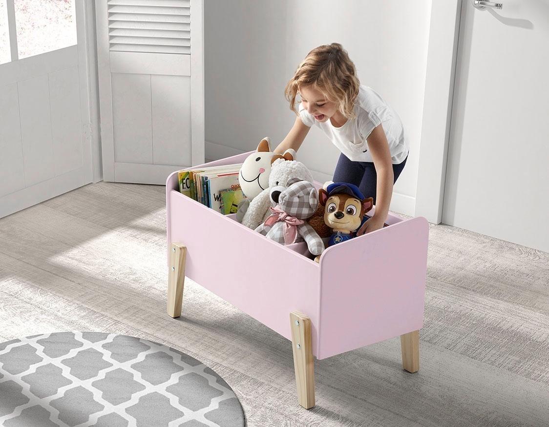 Vipack Spielzeugkiste Kiddy  MDF-Oberfläche rosa   05420070221887