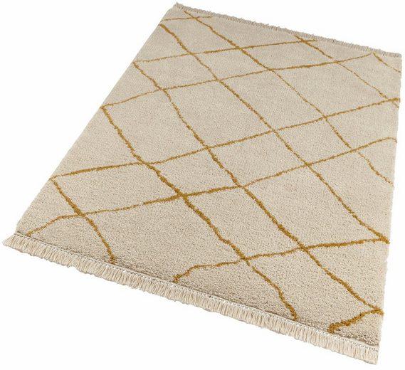 Hochflor-Teppich »Primrose«, freundin Home Collection, rechteckig, Höhe 35 mm