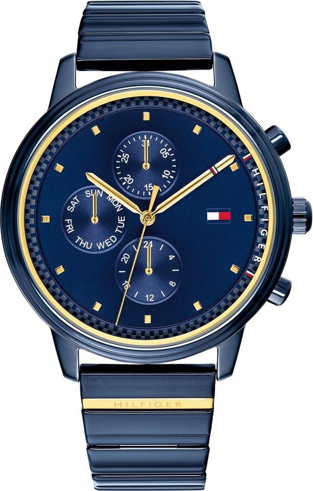 TOMMY HILFIGER Multifunktionsuhr »CASUAL SPORT, 1781893« | Uhren > Multifunktionsuhren | Blau | TOMMY HILFIGER