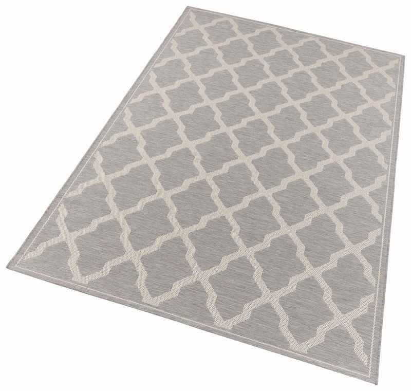 Teppich »Heaven«, freundin Home Collection, rechteckig, Höhe 4 mm, Flachgewebe, In- und Outdoor geeignet