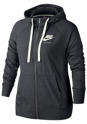 Nike Sportswear Kapuzensweatjacke W NSW GYM VNTG HOODIE FZ EXT PLUS SIZE