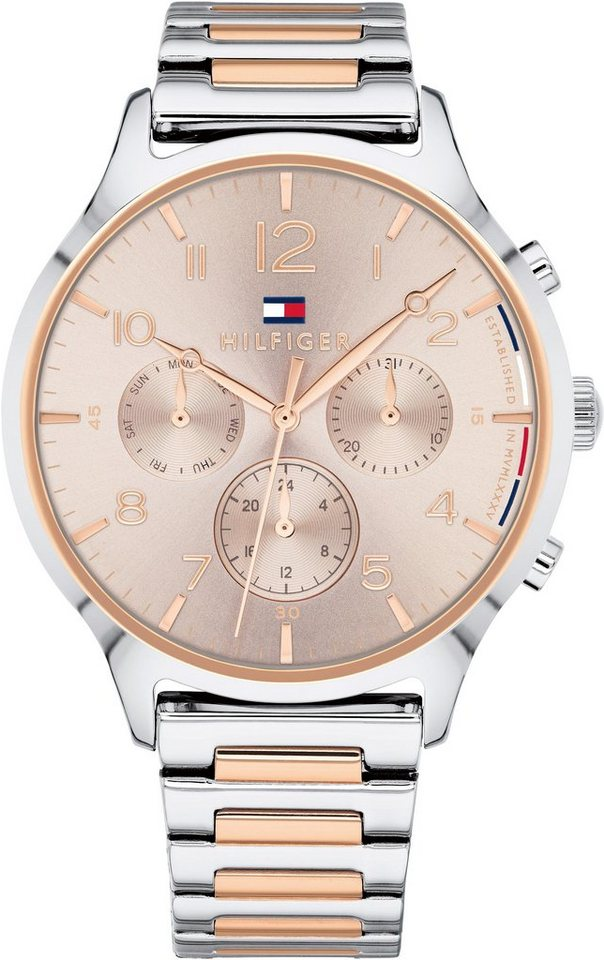 TOMMY HILFIGER Multifunktionsuhr »CASUAL SPORT, 1781876« | Uhren > Multifunktionsuhren | Goldfarben | TOMMY HILFIGER