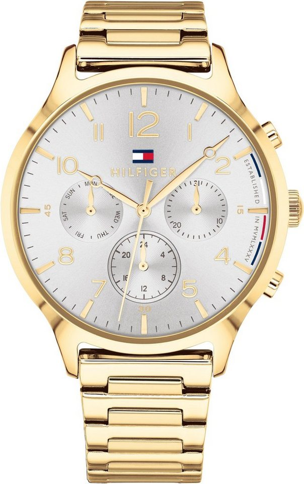 TOMMY HILFIGER Multifunktionsuhr »CASUAL SPORT, 1781872« | Uhren > Multifunktionsuhren | Goldfarben | TOMMY HILFIGER