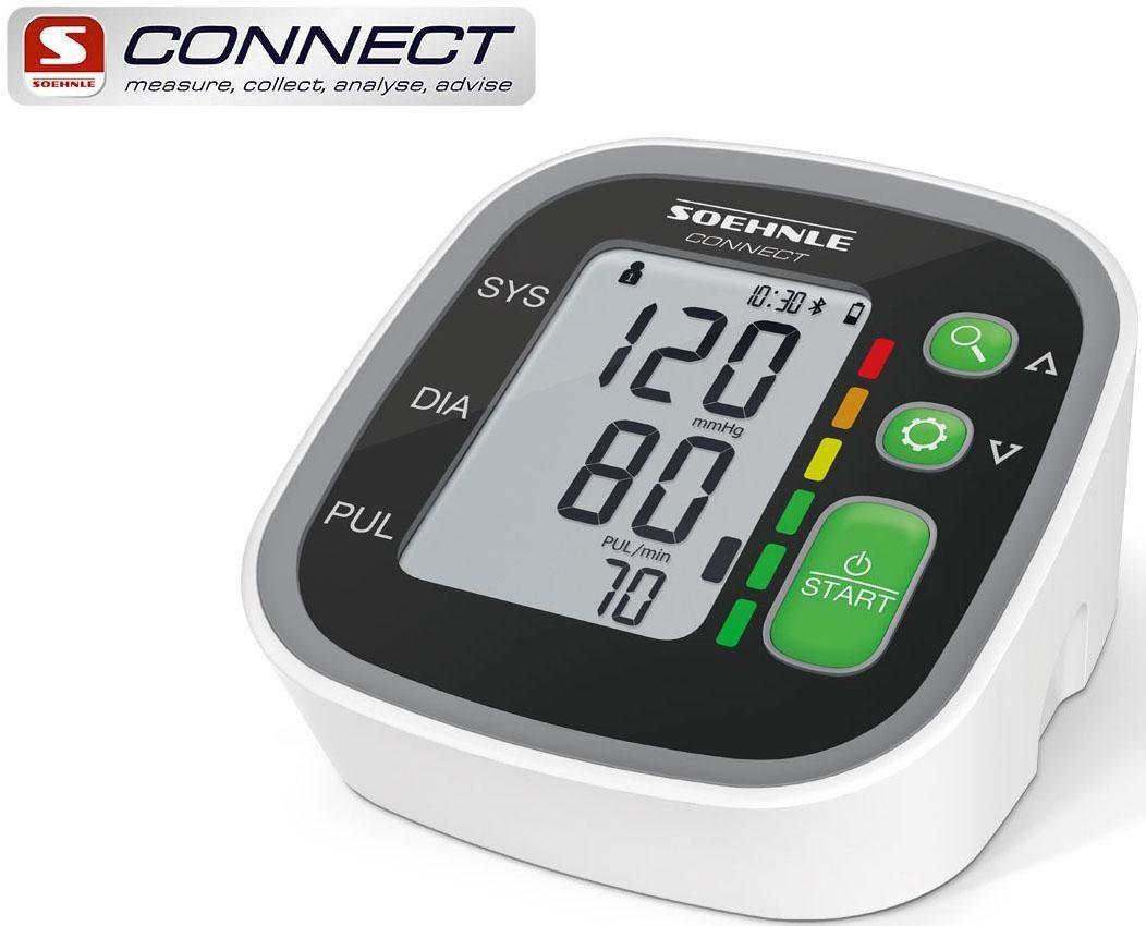 Soehnle Oberarm-Blutdruckmessgerät Systo Monitor Connect 300, mit Anbindung an die Soehnle Connect-App