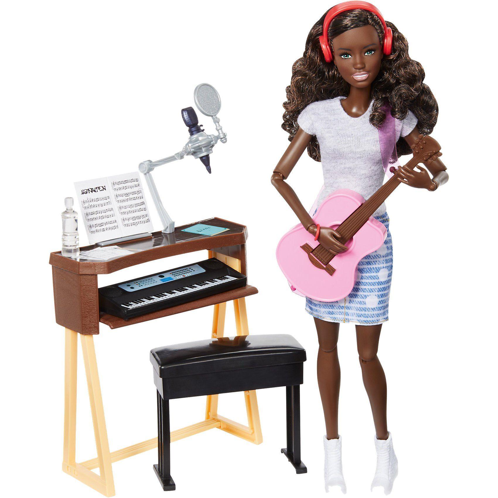 Mattel® Barbie Musikerin Puppe und Spielset (brünett)
