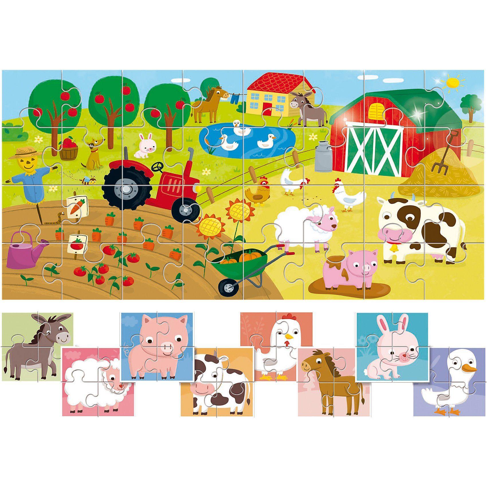 Lisciani 8 +1 Baby Puzzles - Bauernhof