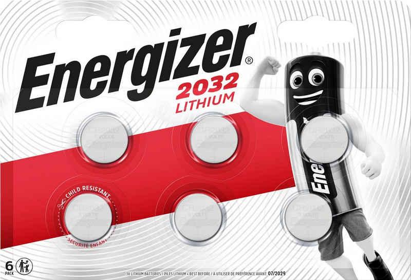 Energizer »CR2032 Knopfzellen 6x« Knopfzelle, CR2032 (3 V)