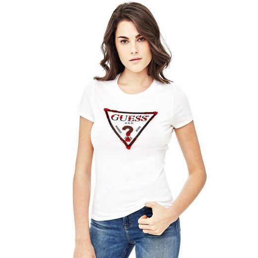 Guess T-SHIRT LOGODREIECK APPLIKATIONEN