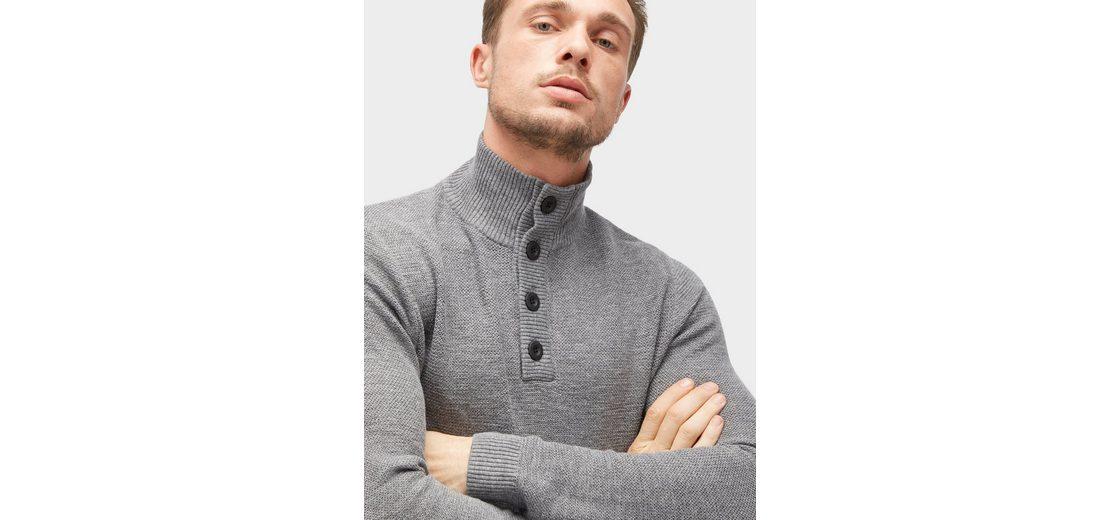 Tom Tailor Strickpullover legerer Troyer Rabatt Billiges Countdown-Paket Bestes Großhandel Online Wv35RI