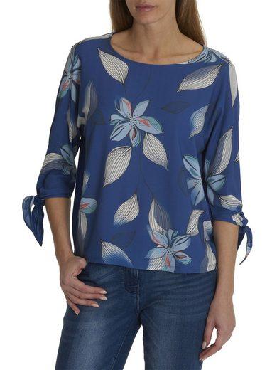 Betty&Co Shirt mit Schleifen am 3/4 Arm und tollem Blumenmuster