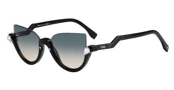 FENDI Fendi Damen Sonnenbrille » FF 0138/S«, schwarz, 29A/IE - schwarz/ weiß