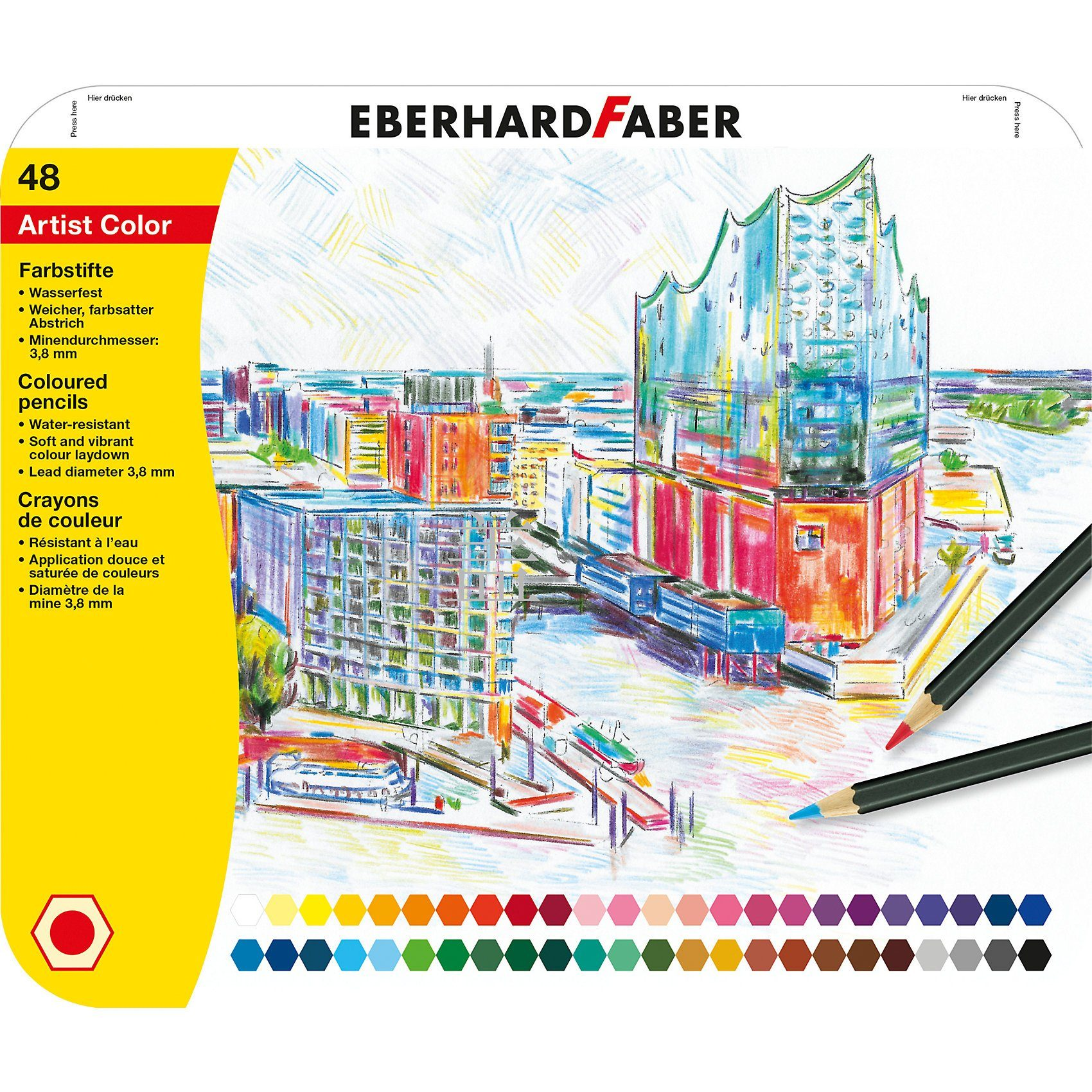Eberhard Faber Buntstifte Artist Color, 48 Farben