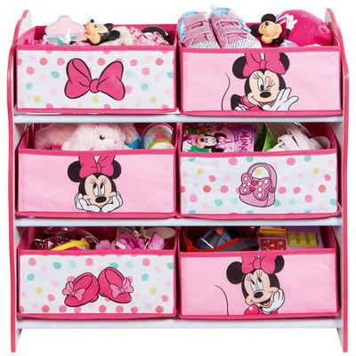 WORLDS APART 6-Boxen Regal, Minnie Mouse, rosa/weiß