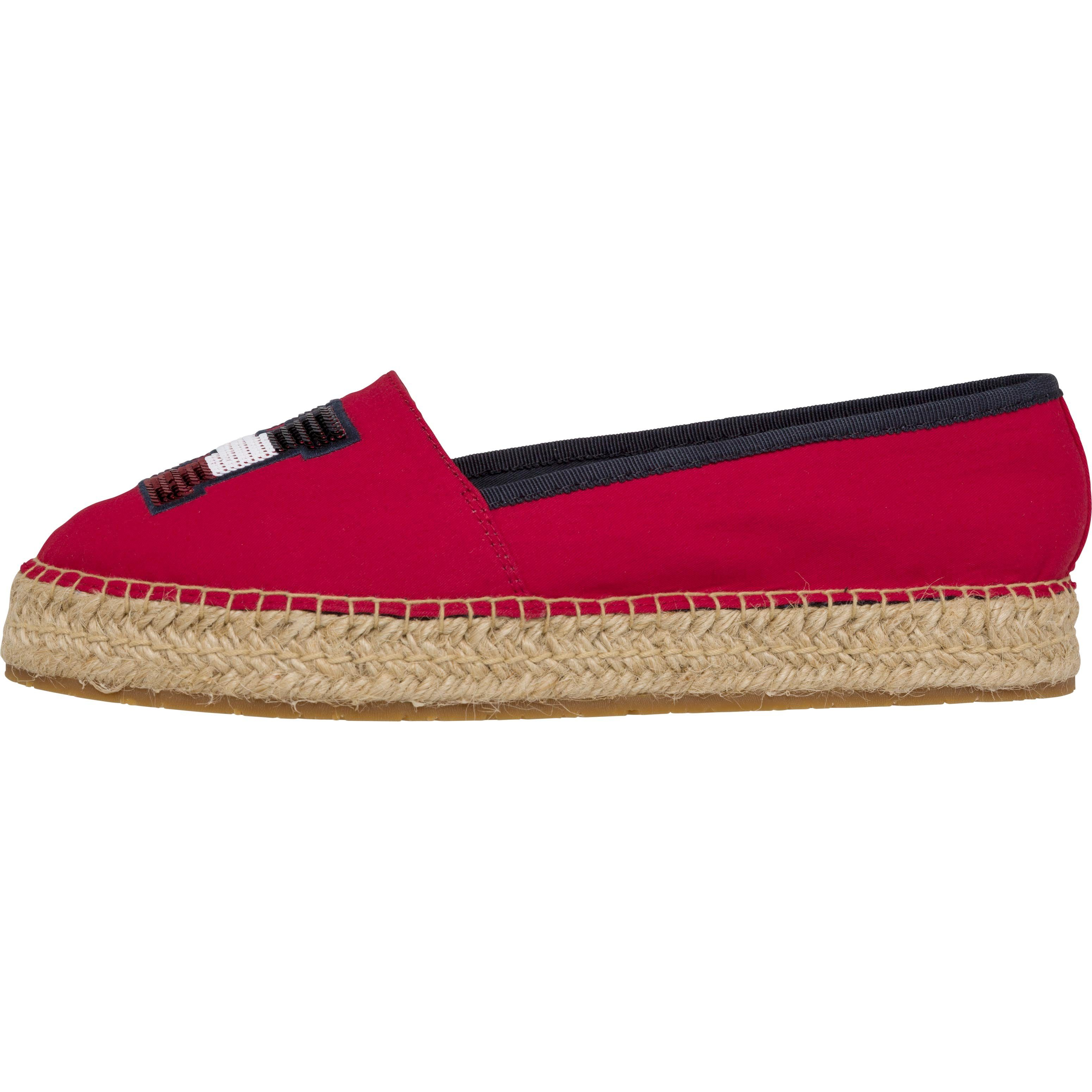Tommy Hilfiger Espadrille TH SEQUINS ESPADRILLE  Tango Red