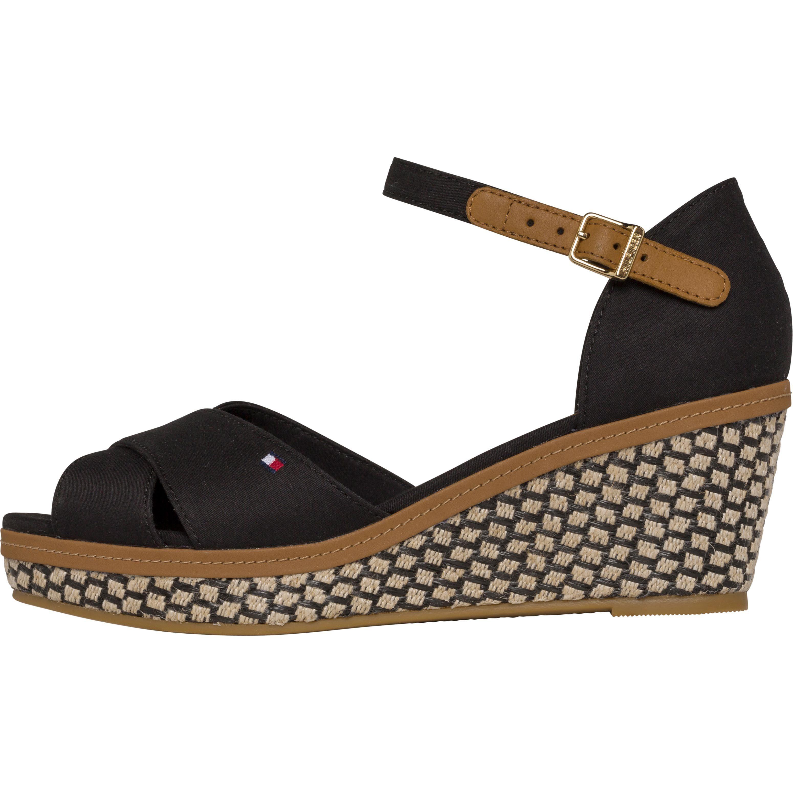 Tommy Hilfiger Sandaletten ICONIC ELBA SANDAL BASIC online kaufen  Black