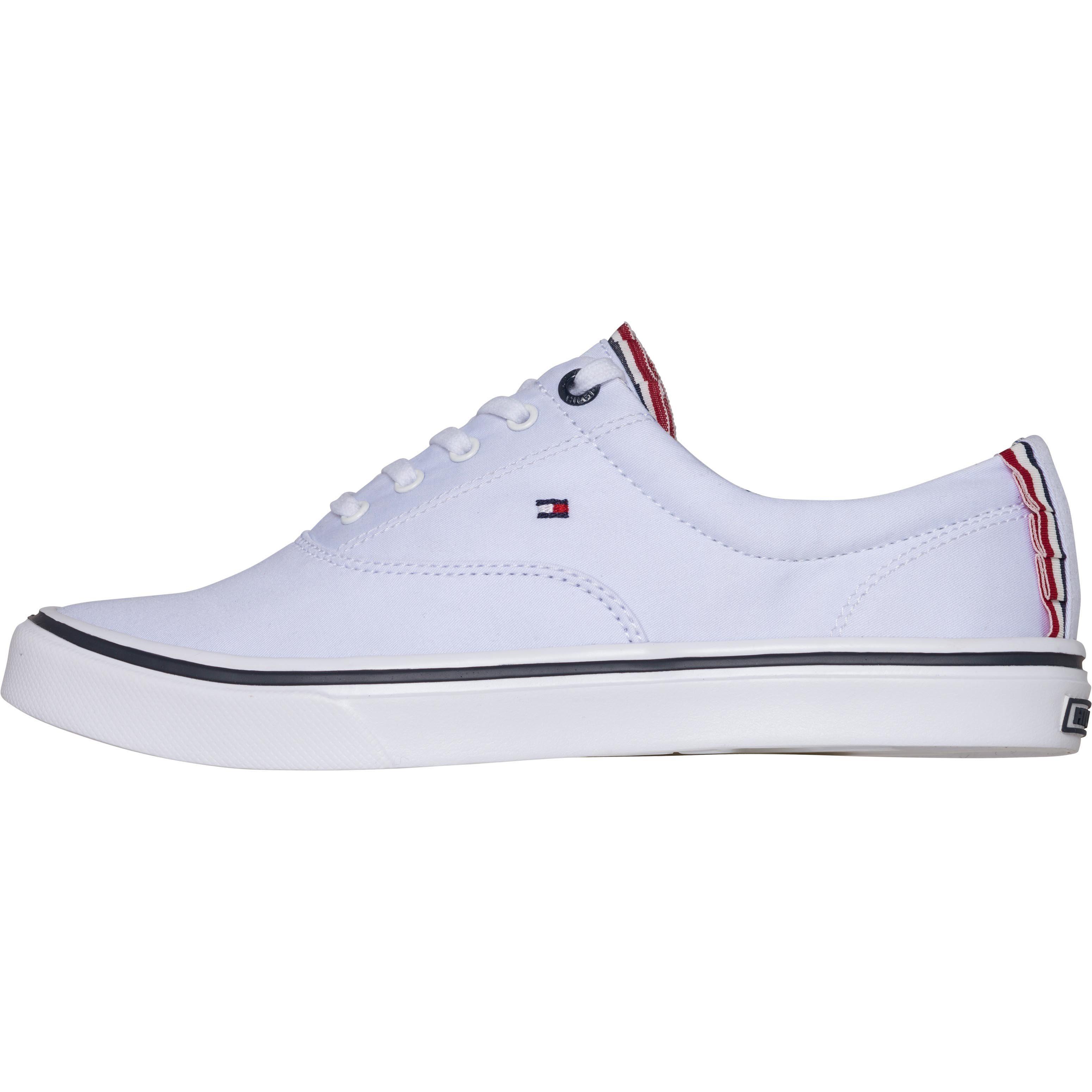 Tommy Hilfiger Sneaker TEXTILE LIGHT WEIGHT SNEAKER online kaufen  WHITE