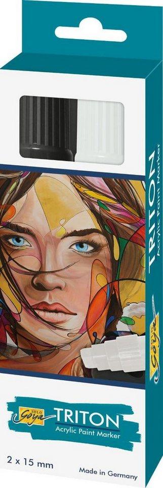 "Kreul Acrylfarbstifte-Set ""Triton Acrylic Paint Marker 1.5 S/W"" online kaufen"