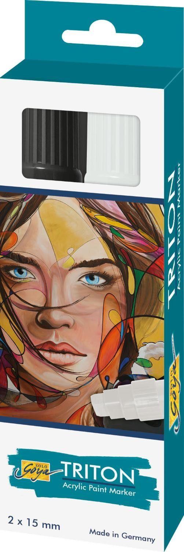 "Kreul Acrylfarbstifte-Set ""Triton Acrylic Paint Marker 1.5 S/W"""