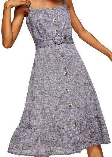 MANGO Midi-Kleid mit Gürtel