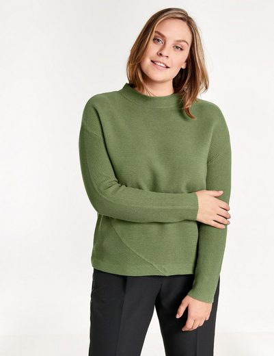 Samoon Pullover Long Sleeve Crew-neck Sweater-knit Cuffs