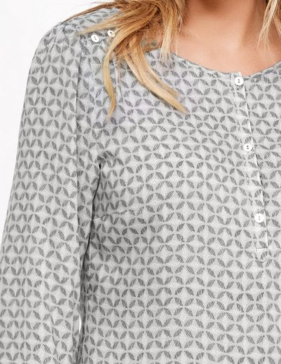 Taifun Bluse Langarm Blusenshirt mit Allover-Print